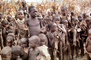 Boys lining up for food, Singing, Lake Turkana, refugee, African Diaspora, POVV01P06_16