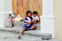 Girl, Boy, Brother, Sister, Siblings, steps, homeless, Oaxaca, Mexico