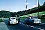 Volkswagen Car, street, border crossing gate, mountains, alps, German Swiss border, 1963, 1960's, PRAV01P08_12