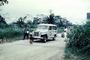 Jeepster SUV, International Border between Zimbabwe and Zaire, Africa, 1950's, PRAV01P09_10
