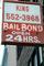 Bail bond, signs, signage, cars, buildings, PRIV01P02_09