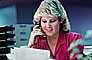 Business Woman, paperwork, documents, phone, bureaucracy, 1985, 1980's, PWWV02P09_13