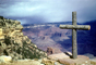 wooden cross over Grand Canyon