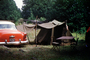 Buick Ninety Eight, 98, Oldsmobile, Car, Tent, Campsite, Indiana, 1953, 1950's, RVCV02P01_12