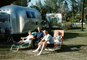 Airstream Trailer, lounge chairs, recliner, campsite, April 1968, 1960's, RVCV02P01_15