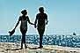 Couple on Beach, Pacific Ocean, sand, water, RVLV02P07_14