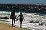 Couple on Beach, Pacific Ocean, sand, water, RVLV02P07_19
