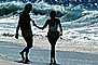 Couple on the Beach, Pacific Ocean, sand, water, RVLV02P08_01