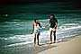 Couple on Beach, Pacific Ocean, sand, water