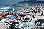 Crowded Beach, Umbrellas, Parasol, Sand, Shoreline, Del Mar, RVLV05P01_10