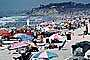 Crowded Beach, Umbrellas, Parasol, Sand, Shoreline, Del Mar, RVLV05P01_12