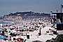 Del Mar, Lifeguard House, Crowded Beach, Umbrellas, Parasol, Sand, Shoreline, RVLV05P01_17