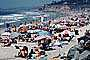 Del Mar, Crowded Beach, Umbrellas, Parasol, Sand, Shoreline, RVLV05P02_01