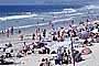 Del Mar, Crowded Beach, Umbrellas, Parasol, Sand, Shoreline, RVLV05P03_01