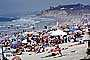 Sun Worshippers, Crowded Beach, Waves, Pacific Ocean, summer, Sand, Shoreline, Umbrellas, Parasol, Del Mar, RVLV05P03_06