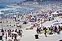 Crowded Beach, Umbrellas, Parasol, Sand, Shoreline, Waves, Pacific Ocean, Del Mar, RVLV05P03_16