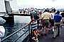 Arizona Memorial, Pearl Harbor, Honolulu, Oahu, Battleship, crowds, path, walkway, footbridge, RVLV05P04_12