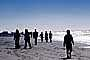 People Strolling on the Beach, New Years Day, Ocean Beach, Ocean-Beach, sewer outlet, RVLV05P07_10