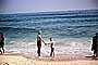 Mother and Son, beach, Atlantic Ocean, Long Island, 1950's, RVLV06P14_05