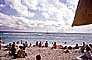 beach, sand, water, clouds, ocean, crowds, Waikiki, 1979, 1970's, RVLV07P01_01