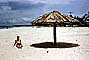 Beach, Sand, Ocean, Parasol, thatched roof, Recife, Brazil, 1950's