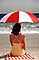 Woman, Umbrella, Parasol, Beach, Ocean, 1970's, RVLV08P02_06