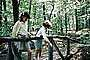 Girls, Sisters, Forest, Path, 1965, 1960's, RVLV09P02_19