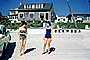 Lady, Woman, Beach, Sand, House, Home, Car, Automobile, Vehicle, 1960's