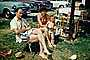 Dad, Mom, Daughter, Retro, Vacation, Girl, Woman, Man, Lake Shawnee, Car, Automobile, Vehicle, 1950's, RVLV09P09_03