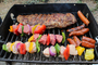 BBQ, Shish-ka-bobs, red meat, white meat, vegetable, RVPD01_018