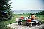 Shirtless Man, Coolers, Table, Lake, RVPV01P04_08