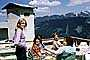 Tower, Women, Females, Smiles, Mountains, 1960's, RVPV01P08_14