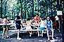 Group at Picnic Table, 1960's, RVPV01P09_02