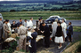 People at a Large Roadside Picnic, car, woman, men, 1950's, RVPV01P10_04