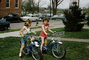 Neighborhood Kids on their Bicycles, Suburbia, Cars, Girls, Basket, 1950's, SBYV04P06_14