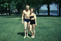 Muscle Beach, Woman, Swimsuit, Man, couple, 1950's, SEWV01P01_02