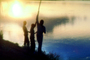 Fishermen, Boys, Lake, Sunset, Burkina Faso, Africa