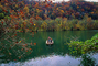 Lake, Fishing Boat, Fall Colors, Autumn, Bucolic, Reflection