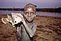 Boy with fish, Africa, fish catch, SFIV02P13_11