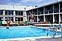 Swimming Pool, Diving Board, Jumping, Summer, Sunny, Poolside, motel, 1960's, SWFV02P02_04