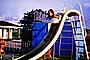 Waterslide, Girl, Float, Sliding