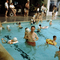 Man in a Swimming Pool, children, floating devices, water, SWFV02P12_12
