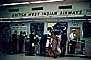 Ticket Counter, British West Indian Airways, Baggage check in, passengers, December 1960, 1960's