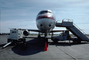 Emery Worldwide Douglas DC-8, head-on, power generator cart, Mobile Stairs, Rampstairs, ramp
