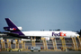 N68056, FedEx, Federal Express, Douglas DC-10, ramp stairs