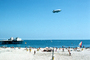 Pier, Goodyear Blimp, Pacific Ocean