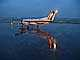 Embraer EMB-120ER, Rainy evening in Portland, N569SW, Twilight, Dusk, Dawn, PW118, TAFD01_162