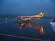 N569SW, Rainy evening in Portland, Embraer EMB-120ER, Twilight, Dusk, Dawn, TAFD01_163