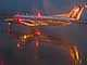 N569SW, Rainy evening in Portland, Embraer EMB-120ER, Twilight, Dusk, Dawn, TAFD01_166