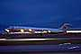American Airlines AAL, Douglas DC-9, Landing, Twilight, Dusk, Dawn